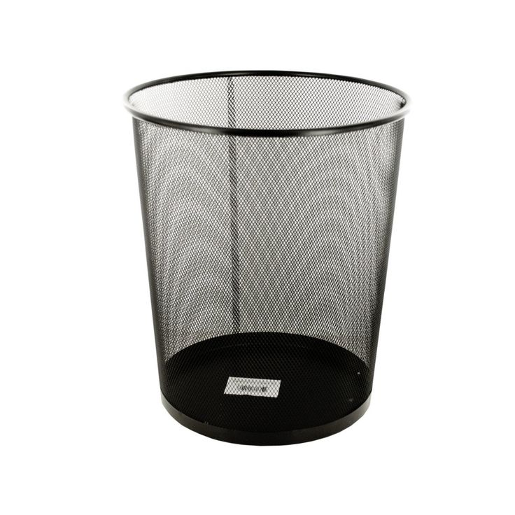 Wholesale Black Metal Mesh Waste Container (Case of 4)