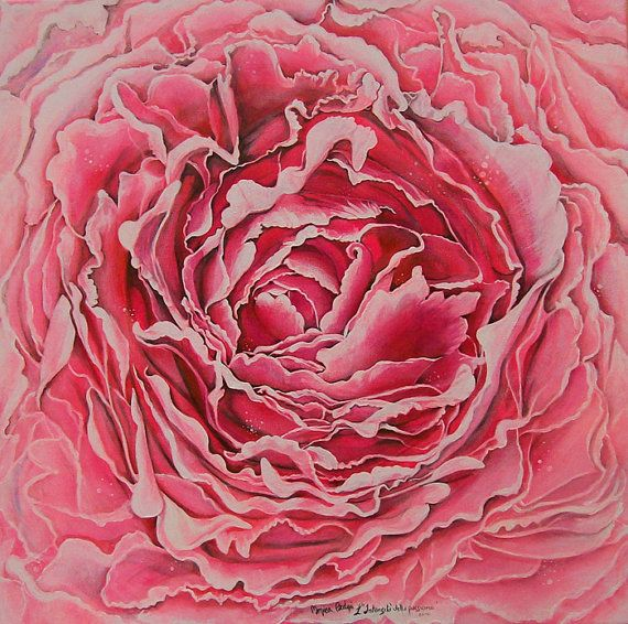 Art Original Painting Flower Title The Intensity by ArtistaToscana
