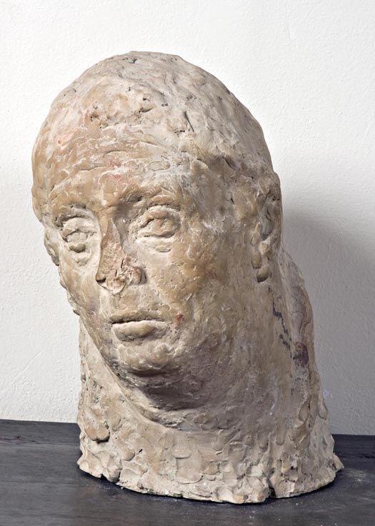 Luigi Varoli/Ritratto della moglie Anna, 1930-40, terracotta alt. 40 cm