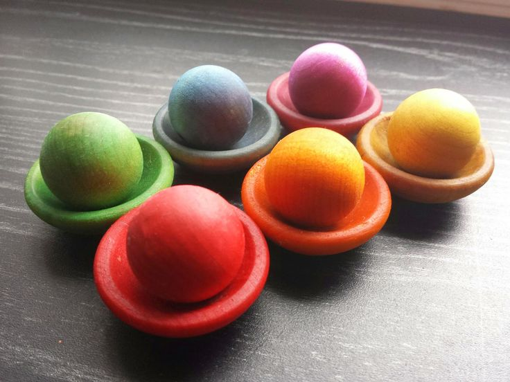 Loopeeeee: Stack & Sort $6/set includes: Six of each bowl and ball.   Bowls are the size of a twoonie