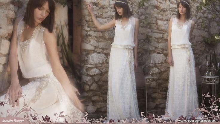 Robe de mariée bohème chic et vintage