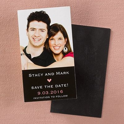 Heart   Photo Save The Date Magnet.A Photo Of The Engaged Couple Sits Atop  Their Very Exciting Wedding Forecast!