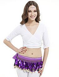 Danza del Vientre Tops Mujer Entrenamiento Cristal algodón La mitad de manga
