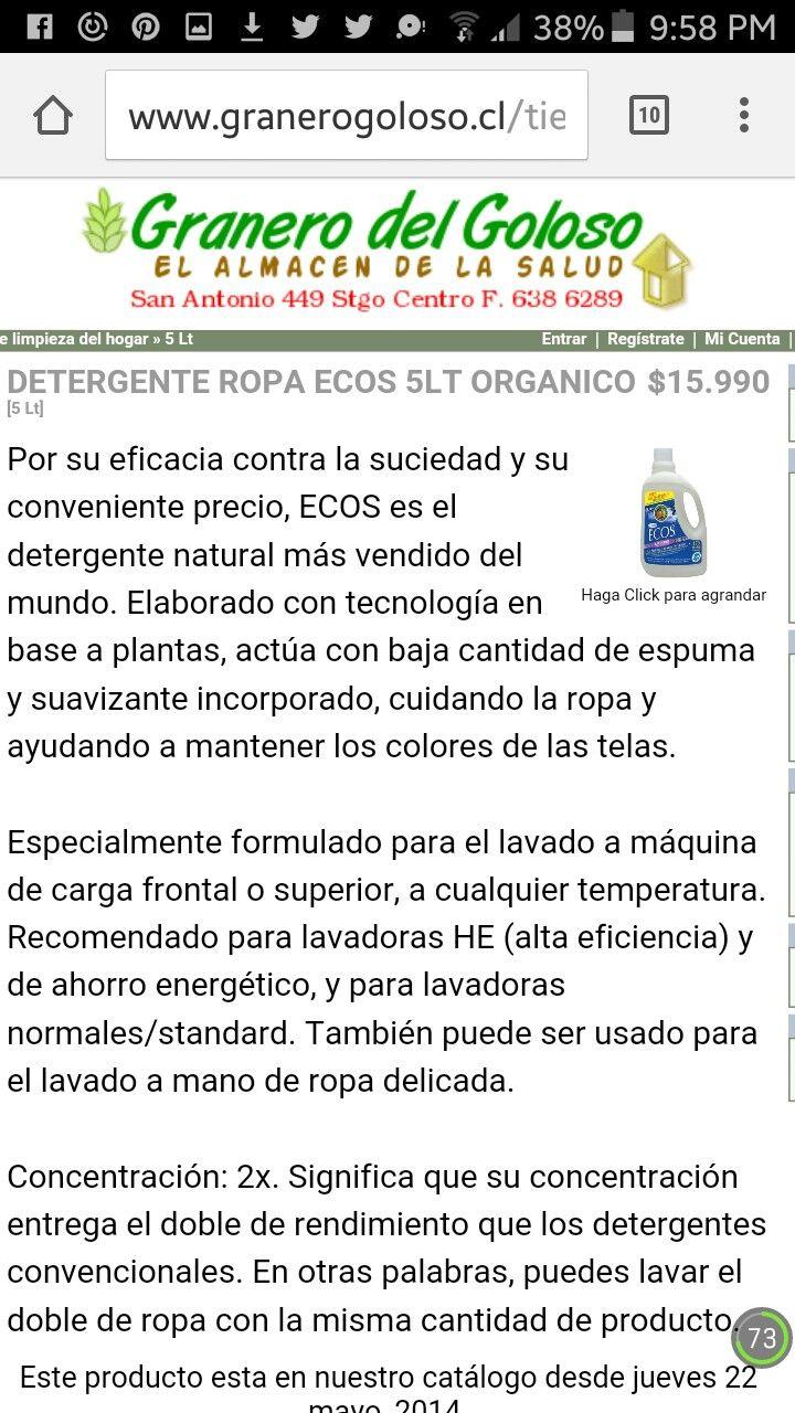 Detergente Ecos