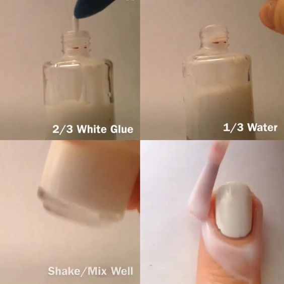 DIY peel off base-coat! Also use it under glitter polish for easy removal.: