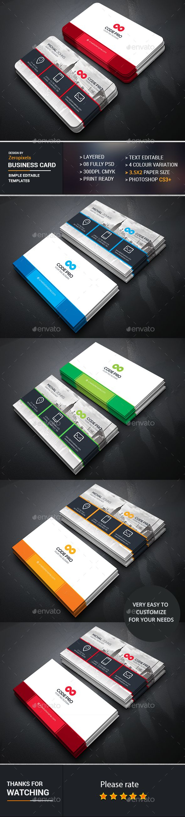 237 best Business Card Design images on Pinterest | Business card ...