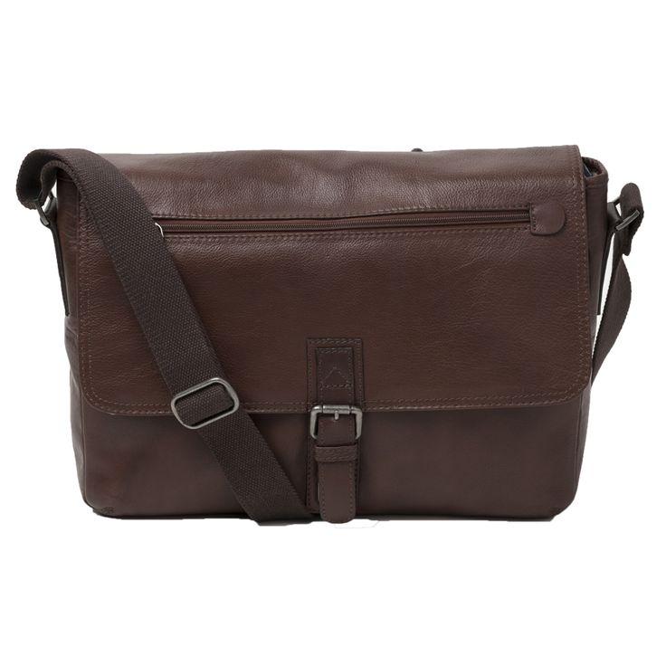 Cobb & Co Rugged Leather RFID Blocking Satchel : Brown- $330.00 #satchelbag #leathersatchelbag #rfidblockingsatchelbag #mensbag