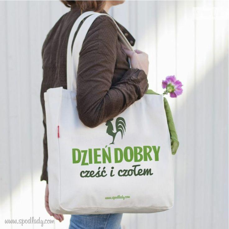 Torba zaciekawi niejednego i może przenosić różności. A zatem nabywajcie torbę i nieście w świat klasyczne polskie Dzień Dobry!!