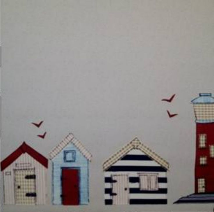 Beach Hut roller blind by Sunlover, Beachhuts and lighthouses patterned rolle... in Home, Furniture & DIY, Curtains & Blinds, Blinds | eBay