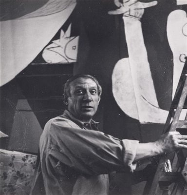 "Picasso at work on ""Guernica"". 1937"