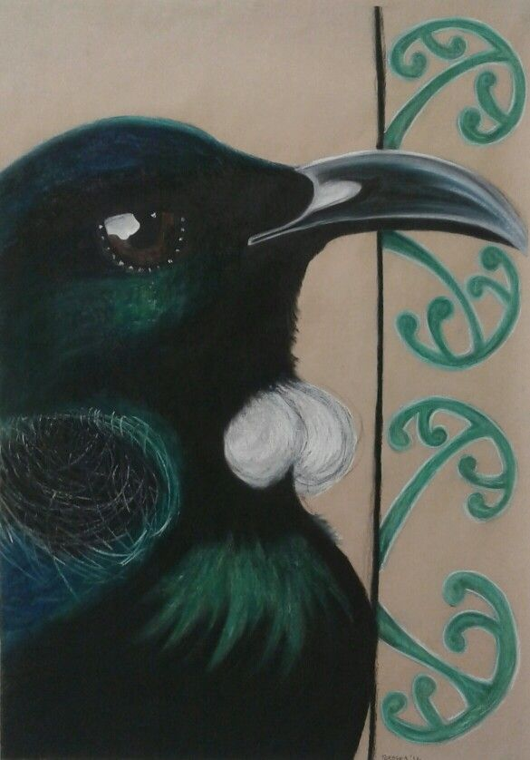 New Zealand Tui- Soft Pastel