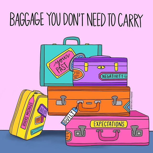 Updated version of an old favorite!  Set down the baggage you dont need to carry. (Print now available in my shop.Link in profile!)