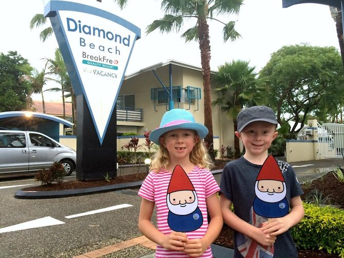 Meet our Roaming Gnomies, Josh and Maddie. See their review of their fun Gold Coast accommodation, Diamond Beach Resort.