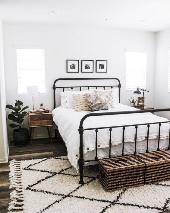 25+ Wunderschön gemütliche Bauernhaus Schlafzimmer Dekor Ideen, die Sie lieben werden