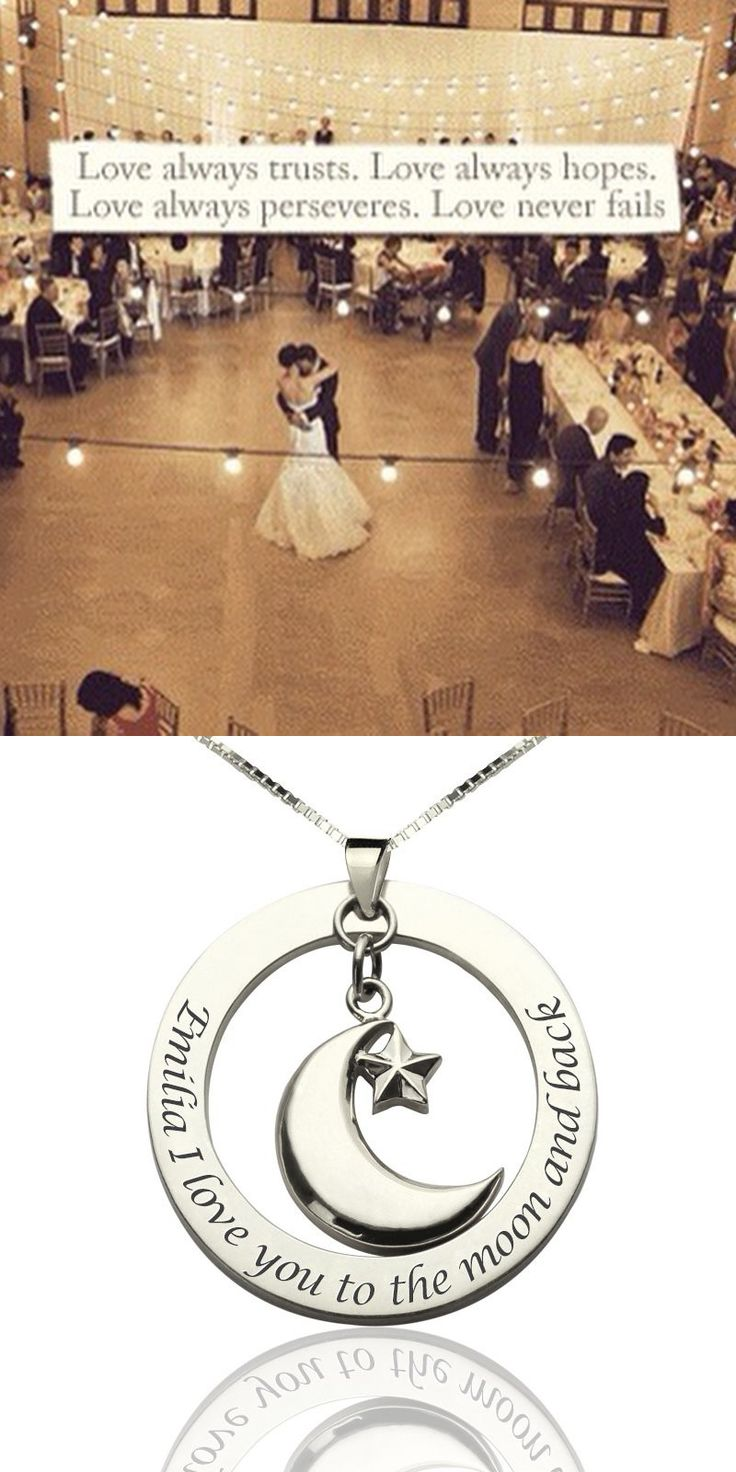 https://www.neatie.com/I-Love-You-To-The-Moon-and-Back-Moon-Start-Charm-Pendant-Handcrafted Love always trusts. Love always hopes. Love always perseveres. Love never fails. This #personalizednecklace will express your love to the one you loved.