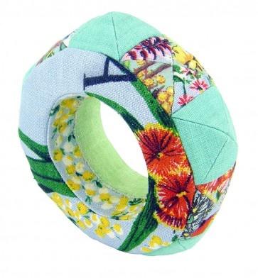 Southern Star buckram and vintage fabric bracelet by Natasha DeSilva