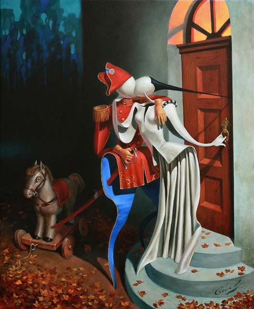 Love Story by Michael Cheval, Original Oil on Canvas 24x20