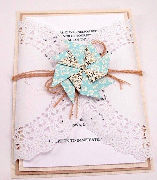 Partecipazioni shabby con girandola. Wedding invitations with pinwheel. #wedding