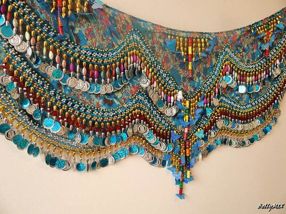 LUXURY Professional Costume Sexy Belly Dance Hip Scarf Coin Chain Belt