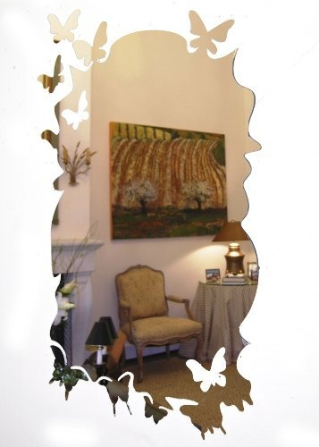 Self Adhesive Acrylic Mirror with Flying Butterflies Edges by Danya B    http. Self Adhesive Acrylic Mirror with Flying Butterflies Edges by