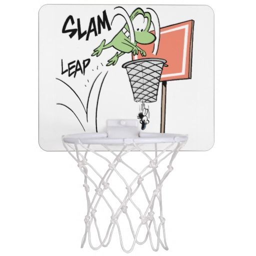 Shoot some hoops and nail slam dunks with this Mort the Frog Basketball hoop. #zazzle #bball #basketballhoop #frogs $29.95 http://www.zazzle.com.au/frog_cartoon_basketball_hoop-256040475431413162?rf=238100710189761270