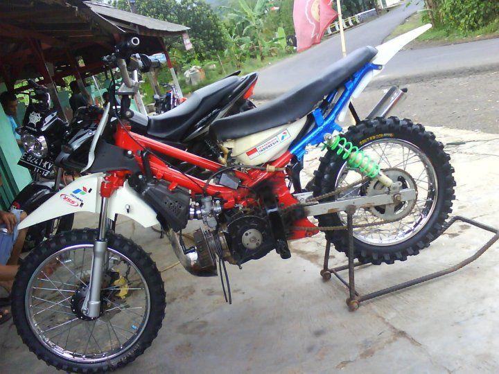 Modifikasi motor trail 2015