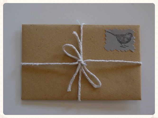 Bird and string envelope favours. These ten little wedding favour packets will add rustic charm to your wedding reception place settings, they could also double up as name places. Only £2.49!