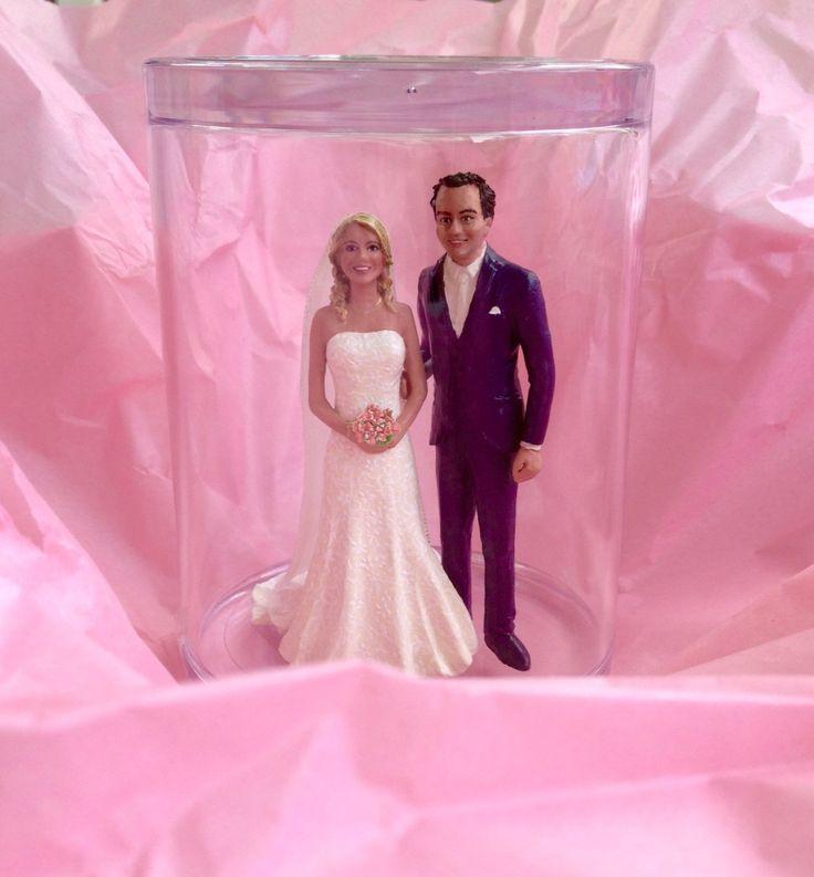 #Miniature#wedding-couple#in'tKlein#caketopper