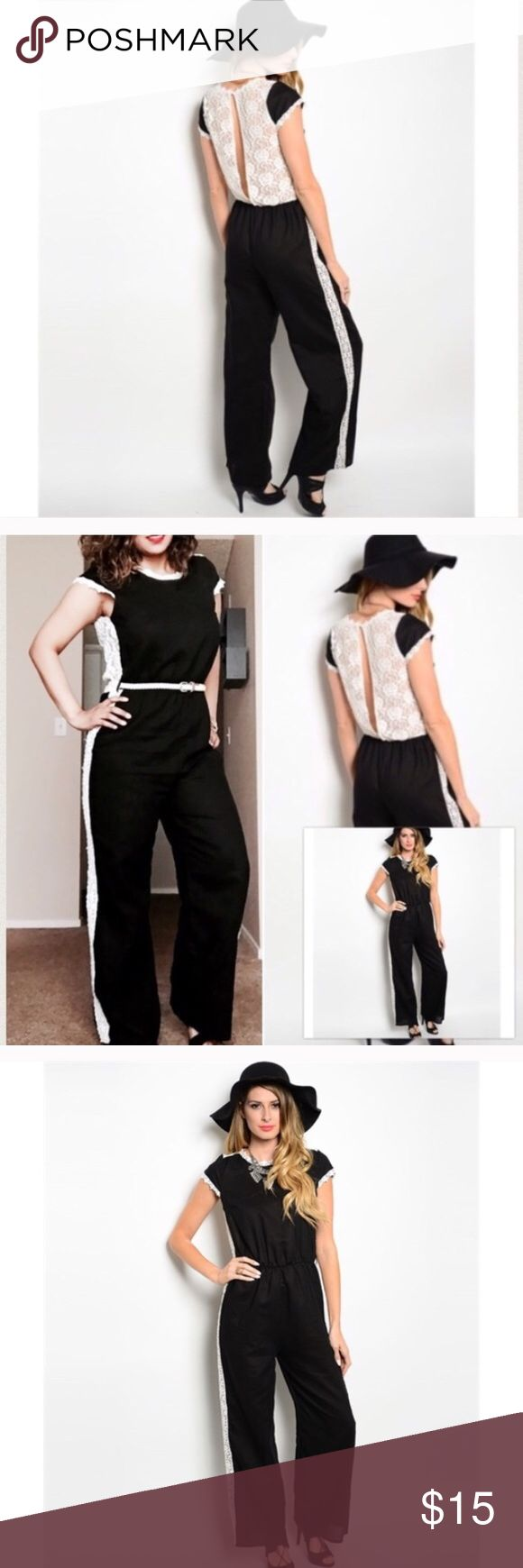 Black and White Jumper Great jumper! Looks absolutely gorgeous on! Add a belt to give it that fab look! Pants Jumpsuits & Rompers