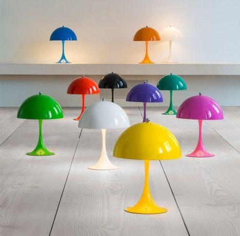 Louis Poulsen releases mini version of 1971 Panthella lamp by Verner Panton