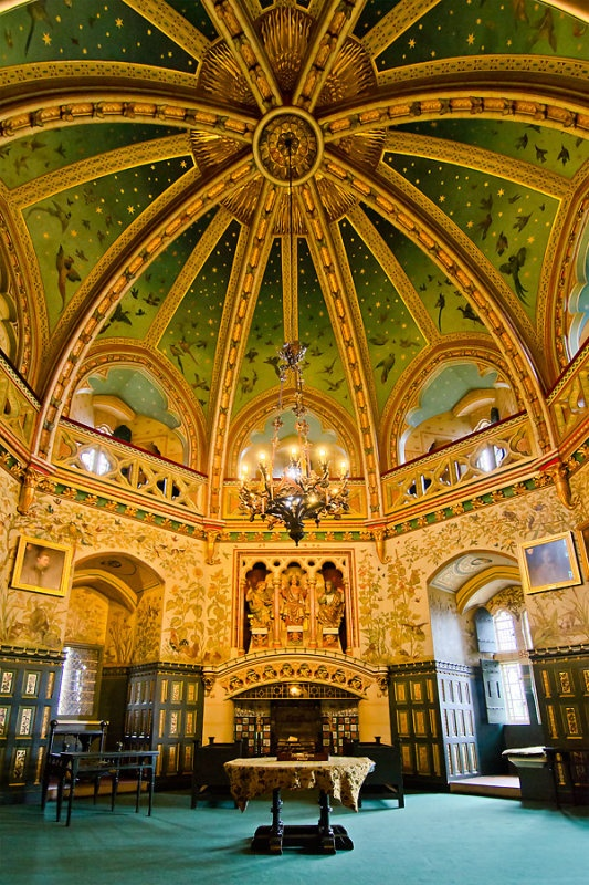Drawing room and ceiling, Castell Coch ~  Tongwynlais, Cardiif, Wales