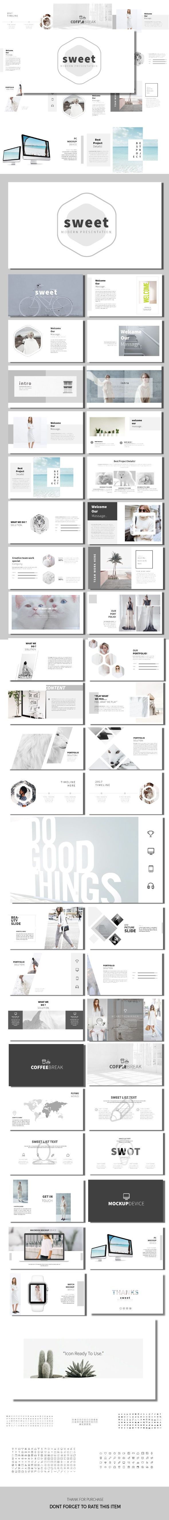 Sweet - Minimal Modern Templates - Business #PowerPoint Templates