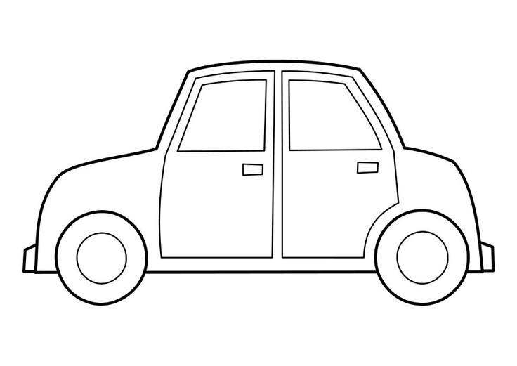 Happy Fathers Day Car Coloring Page