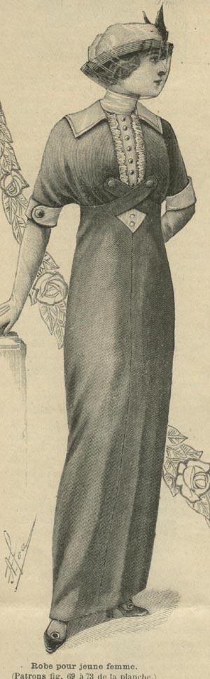 April 1913 Dress for a young lady