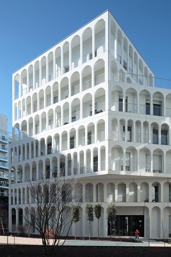 Antonini Darmon Architectes sheathes Parisian housing block with stacked arcades - News - Frameweb