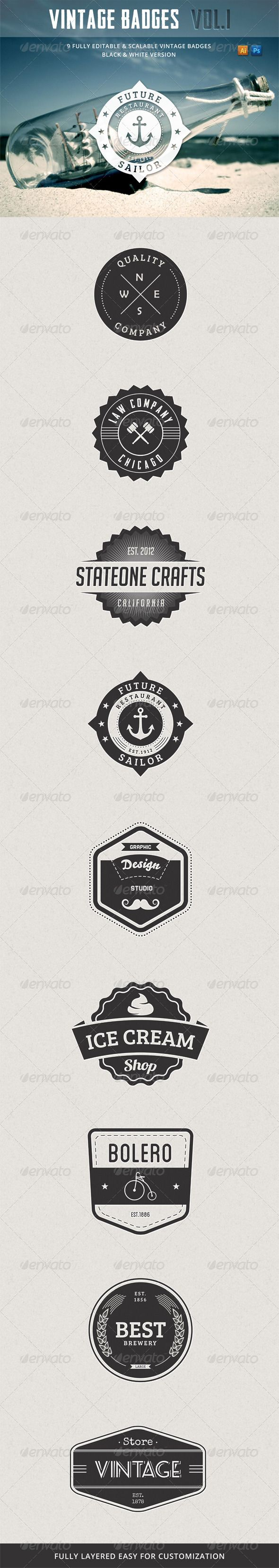 Retro Vintage Badges Vol.1