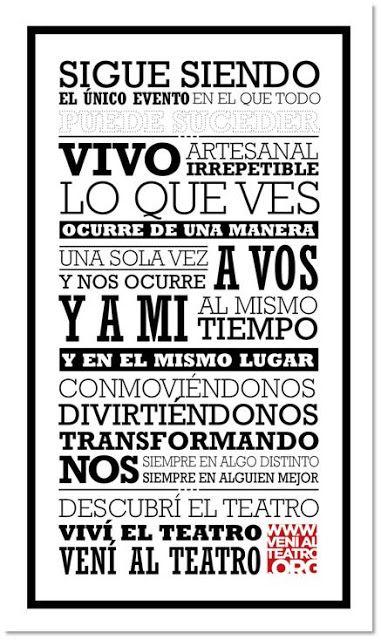 Nueva edición #venialteatro 2017   La Asociación Argentina de Empresarios Teatrales (AADET) lanza otra edición de la campaña Vení al Teatro que se realizará durante el mes de octubre en todos los teatros asociados. El objetivo es desarrollar estimular y reforzar el vínculo emocional entre los públicos y la actividad teatral; esperando ser una campaña que se repita todos los años en dicho mes.  El lanzamiento se realizará el martes 3 de octubre en TICKETS BS AS en Diagonal Norte y Cerrito…