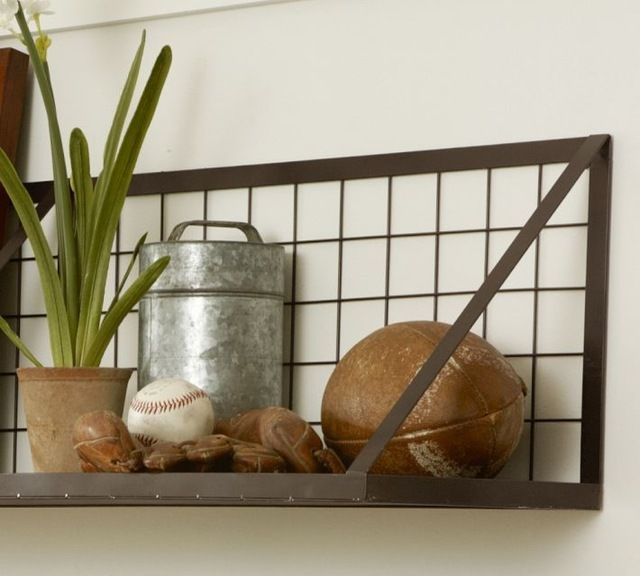 Industrial Wall Shelves By Pottery Barn: Wonder If This Would Fit Above The  Kitchen Window