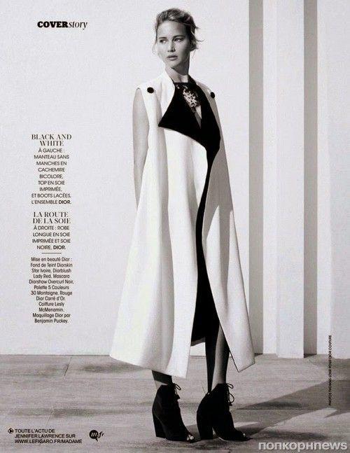 Дженнифер Лоуренс в журнале Madame Figaro. Ноябрь 2014 - popcornnews