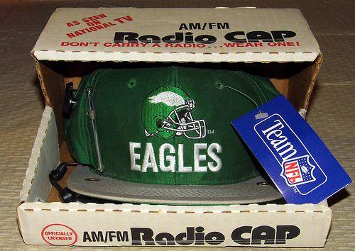Vintage Philadelphia Eagles AM-FM Novelty Radio Cap, Officially Licensed NFL Team Product.