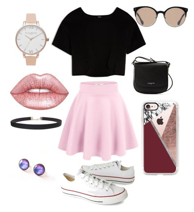 """🍬"" by sophievanderkooy on Polyvore featuring Max&Co., Converse, Lancaster, Balenciaga, Casetify, Olivia Burton, Lime Crime and Humble Chic"