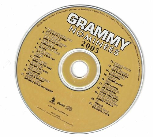 Grammy Nominees 2005 CD Professionally Cleaned