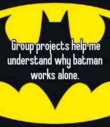 I'm overwhelmed by any group project... I'm screwed, I'll never be hired :(