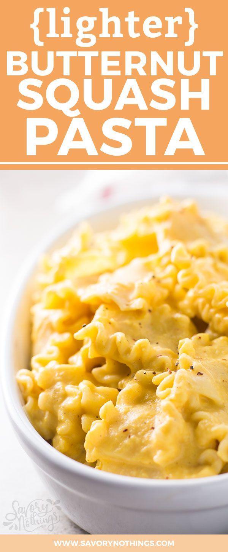 creamy butternut squash pasta recipe! Full of fiber from the squash ...