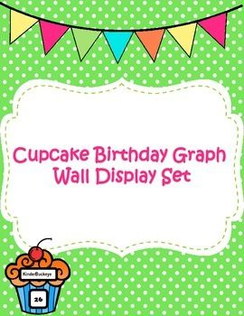 Cupcake Birthday Graph!! So cute. Perfect for Back to School.