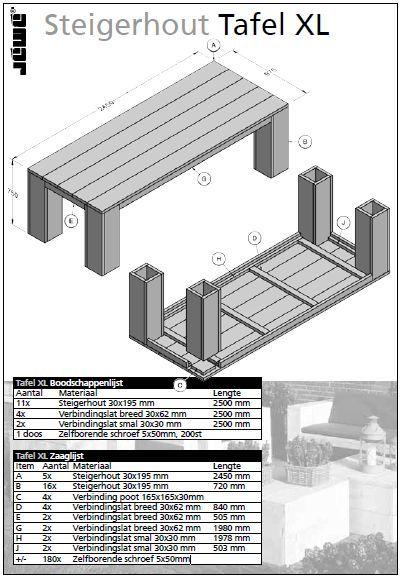 steigerhout-eettafel-bouwtekening