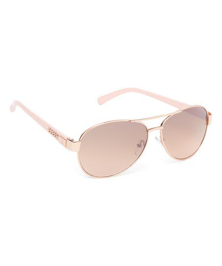 Jessica Simpson Collection Rose Gold & Rose Aviator Sunglasses | zulily