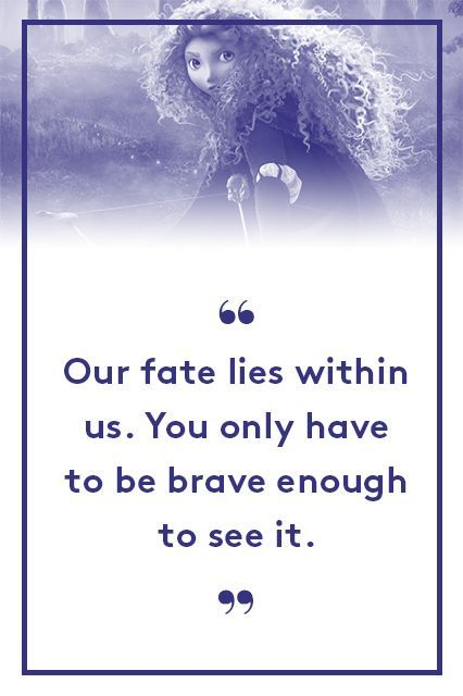 """Princess Merida, BraveIs Sara Bareilles song """"Brave"""" running through your head right now? It should be. #refinery29 http://www.refinery29.com/2015/06/88105/best-pixar-movie-quotes-inside-out#slide-8"""