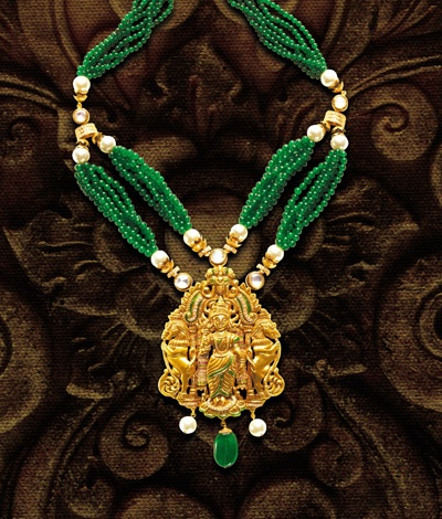 Temple jewellery has become the most popular crafts of India. Temple jewellery is believed to be auspicious and offer good luck, when adorned on festivals.