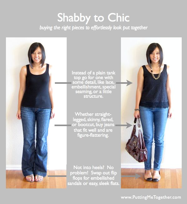 Shabby to Chic - Buying the Right Pieces by Audrey @ Putting Me Together